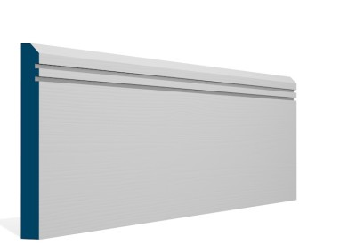 19 x 169mm Pre-Primed / Pre-Painted Wood Bevelled Double Shaker Skirting (5×2.4m)