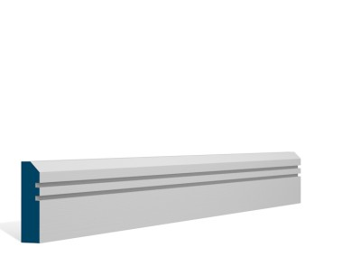 19 x 69mm Pre-Primed / Pre-Painted Wood Bevelled Double Shaker Architrave or Skirting (5×2.25m)