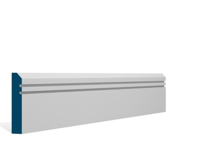 19 x 94mm Pre-Primed / Pre-Painted Wood Bevelled Double Shaker Architrave or Skirting (5×2.25m)