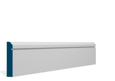 19 x 94mm Pre-Primed / Pre-Painted Wood Bevelled Single Shaker Architrave or Skirting (5×2.25m)