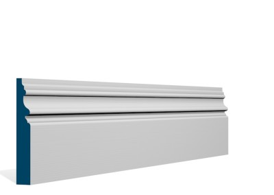 19 x 119mm Pre-Primed / Pre-Painted Wood Brackley Skirting (5×2.4m)