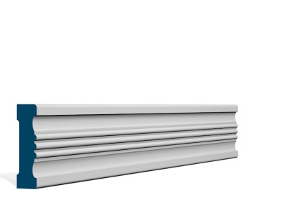 25 x 92mm Pre-Primed / Pre-Painted Whitewood Braden Architrave (inc Plinth Blocks)