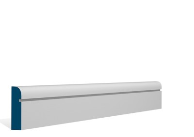 19 x 69mm Pre-Primed / Pre-Painted Wood Bullnose Shaker Architrave or Skirting (5×2.25m)