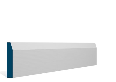 19 x 94mm Pre-Primed / Pre-Painted Wood Chamfered Architrave or Skirting (5×2.25m)