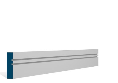19 x 69mm Pre-Primed / Pre-Painted Wood Double Shaker Architrave or Skirting (5×2.25m)