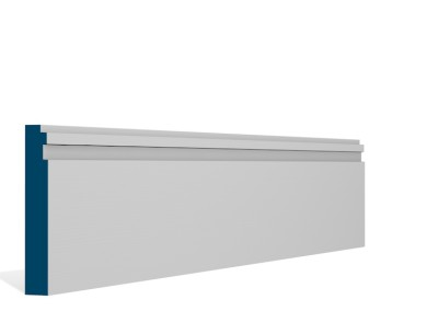 19 x 119mm Pre-Primed / Pre-Painted Wood Double Step Skirting (5×2.4m)