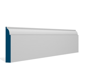19 x 119mm Pre-Primed / Pre-Painted Wood Ovolo Skirting (5×2.4m)