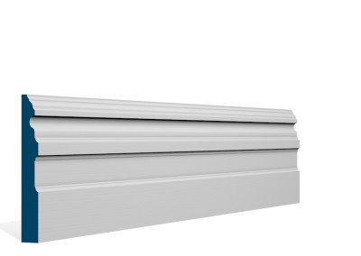 19 x 144mm Pre-Primed / Pre-Painted Wood Owel Skirting (5×2.4m)