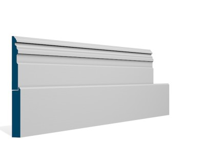 25 x 269mm Pre-Primed / Pre-Painted Wood Owel Skirting (5×2.4m)