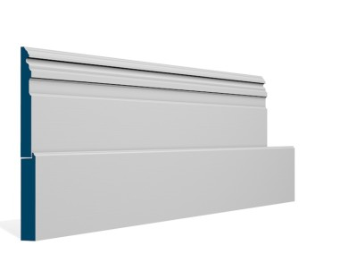 25 x 294mm Pre-Primed / Pre-Painted Wood Owel Skirting (5×2.4m)
