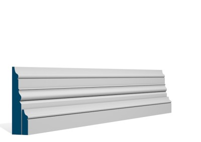 31 x 119mm Pre-Primed / Pre-Painted Wood Pallas Skirting (4×2.4m)