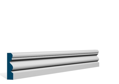19 x 69mm Pre-Primed / Pre-Painted Wood Portmore Architrave or Skirting (5×2.25m)