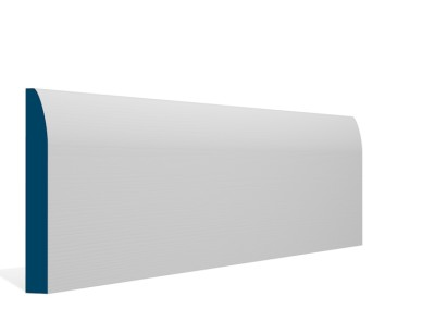 19 x 144mm Pre-Primed / Pre-Painted Wood Rounded Skirting (5×2.4m)