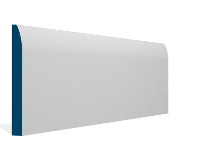 19 x 169mm Pre-Primed / Pre-Painted Wood Rounded Skirting (5×2.4m)