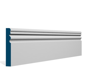 19 x 119mm Pre-Primed / Pre-Painted Wood Sheelin Skirting (5×2.4m)