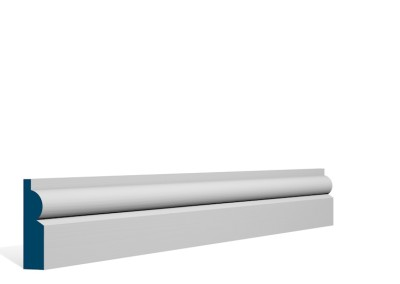 19 x 69mm Pre-Primed / Pre-Painted Wood Torus Architrave or Skirting (5×2.25m)