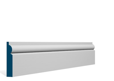 19 x 94mm Pre-Primed / Pre-Painted Wood Torus Architrave or Skirting (5×2.25m)